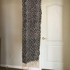 Pashmina Cashmere leopard scarf